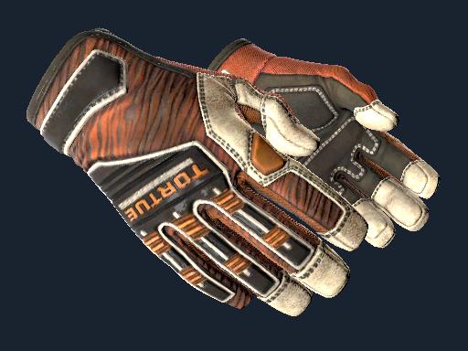 ★ Specialist Gloves | Tiger Strike (Battle-Scarred)