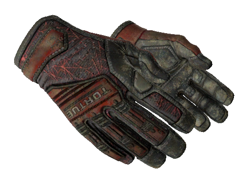 ★ Specialist Gloves | Crimson Web (Battle-Scarred)