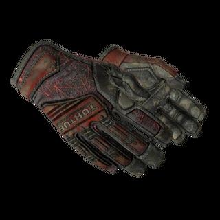 ★ Specialist Gloves | Crimson Web (Battle-Scarred)