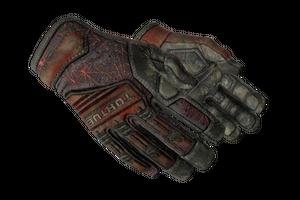 Specialist Gloves Crimson Web Battle Scarred