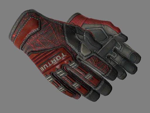 ★ Specialist Gloves | Crimson Web (Minimal Wear)