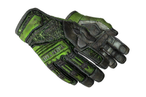 Specialist Gloves Emerald Web Battle Scarred