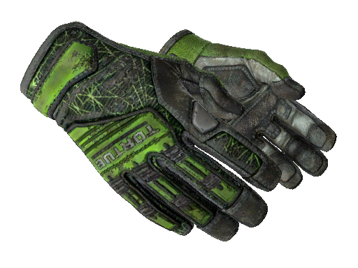 ★ Specialist Gloves | Emerald Web Battle-Scarred