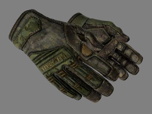★ Перчатки спецназа | Пиксельный камуфляж «Лес» (Закаленное в боях)