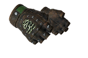 Hydra Gloves Emerald Battle Scarred