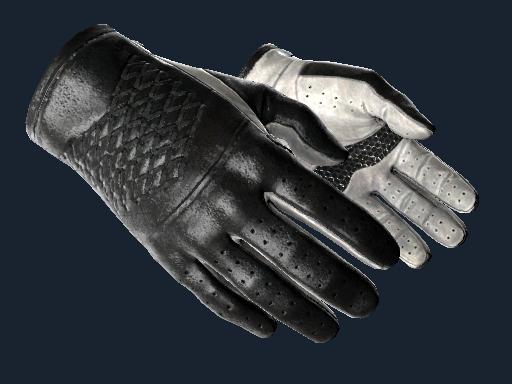 ★ Driver Gloves | Black Tie (Battle-Scarred)
