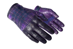 Driver Gloves Imperial Plaid Well Worn