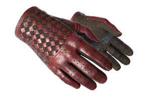 Driver Gloves Crimson Weave Well Worn