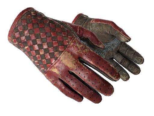 Driver Gloves   Crimson Weave Battle-Scarred