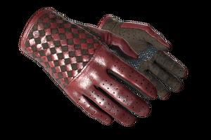 Driver Gloves Crimson Weave Minimal Wear