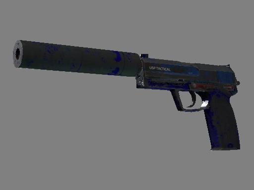Скин USP-S | Королевский синий (Закаленное в боях)