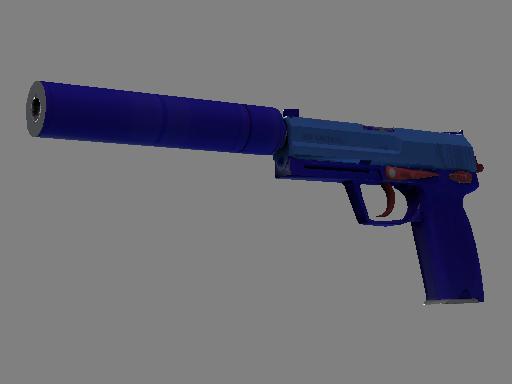 Скин Сувенирный USP-S | Королевский синий (Немного поношенное)