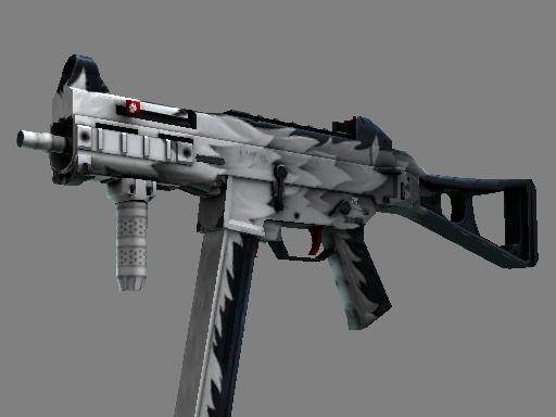 Скин StatTrak™ UMP-45 | Арктический волк (После полевых испытаний)