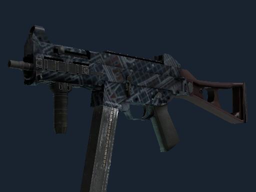 Скин Сувенирный UMP-45 | Чертёж-гравировка (Немного поношенное)