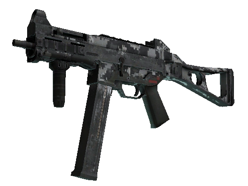Скин Сувенирный UMP-45 | Пиксельный камуфляж «Город» (Закалённое в боях)