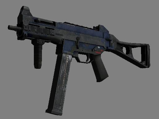 Скин Сувенирный UMP-45 | Индиго (Закаленное в боях)