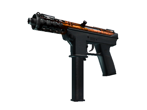 Tec-9 | Red Quartz Well-Worn