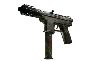 Tec 9 Cracked Opal Battle Scarred