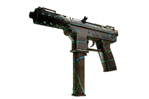 Tec 9 Cracked Opal Well Worn