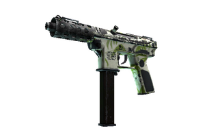 Tec 9 Bamboo Forest Battle Scarred