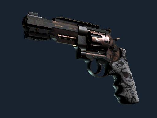 R8 Revolver | Bone Forged Minimal Wear