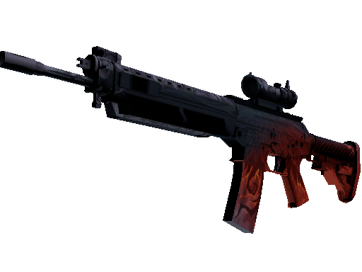 StatTrak™ SG 553 | Darkwing (Battle-Scarred)