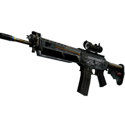 SG 553 | Aerial (Battle-Scarred)