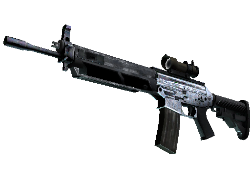 SG 553 | Damascus Steel Factory New