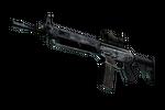 Souvenir SG 553 | Damascus Steel (Battle-Scarred)