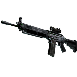 SG 553 | Damascus Steel (Battle-Scarred)