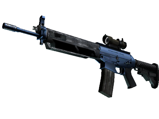 Souvenir SG 553 | Anodized Navy (Minimal Wear)