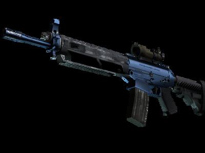 SG 553 | Анодированная синева (Прямо с завода)