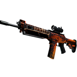 StatTrak™ SG 553 | Tiger Moth (Well-Worn)