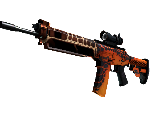 SG 553 | Tiger Moth (Battle-Scarred)