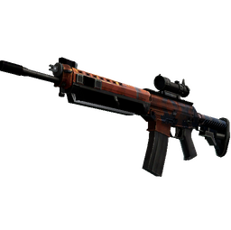StatTrak™ SG 553 | Danger Close (Minimal Wear)
