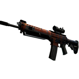 StatTrak™ SG 553 | Danger Close (Well-Worn)