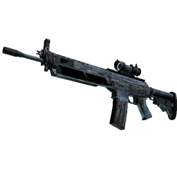 StatTrak™ SG 553 | Wave Spray (Battle-Scarred)