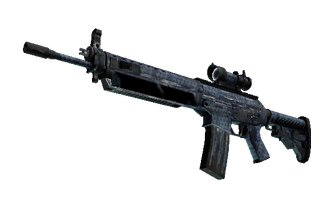 SG 553 | Waves Perforated (Battle-Scarred) Price