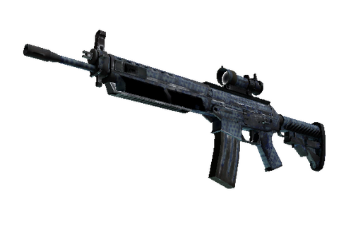 Buy SG 553 | Waves Perforated (Battle-Scarred)