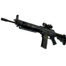 Souvenir SG 553 | Gator Mesh (Battle-Scarred)