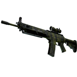 Souvenir SG 553 | Gator Mesh (Well-Worn)