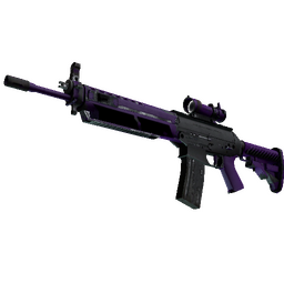 StatTrak™ SG 553 | Ultraviolet (Well-Worn)