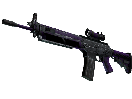 SG 553 | Ultraviolet Battle-Scarred