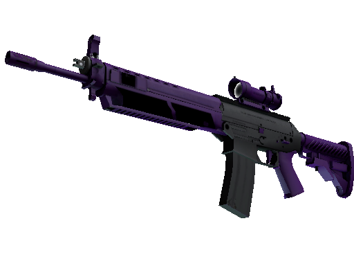 SG 553 | Ultraviolet (Battle-Scarred)