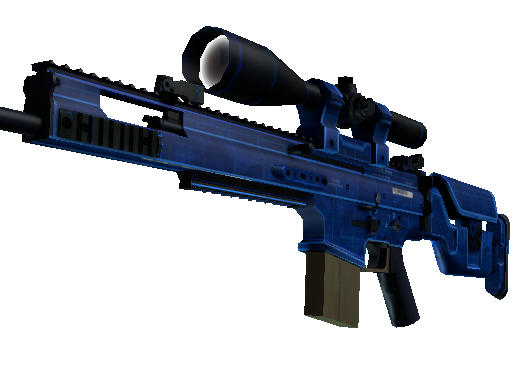 StatTrak™ SCAR-20 | Blueprint (Battle-Scarred)