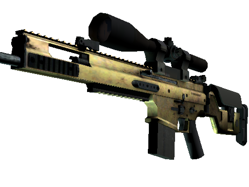 SCAR-20 | Brass (Well-Worn)