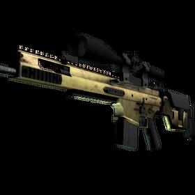SCAR-20 | Brass (Well-Worn)