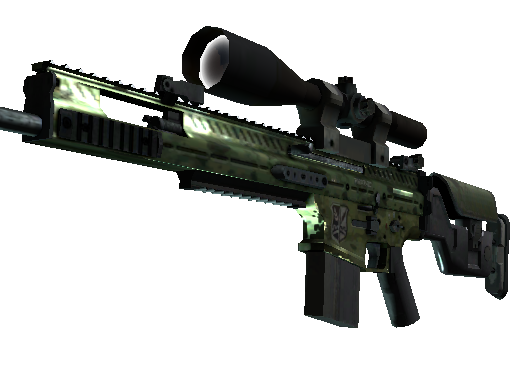 SCAR-20 | Green Marine Well-Worn