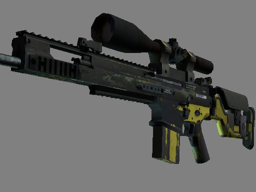 Скин SCAR-20 | Вихрь джунглей (Закаленное в боях)
