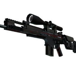 StatTrak™ SCAR-20 | Crimson Web (Battle-Scarred)